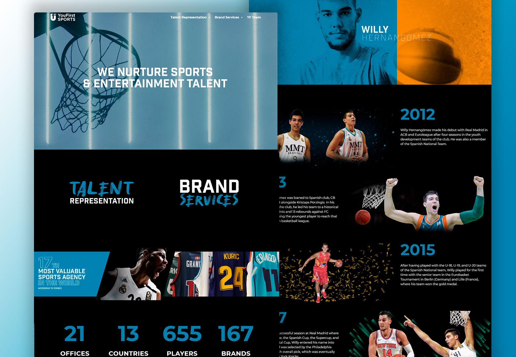 nuevo diseño y estructura you first sports